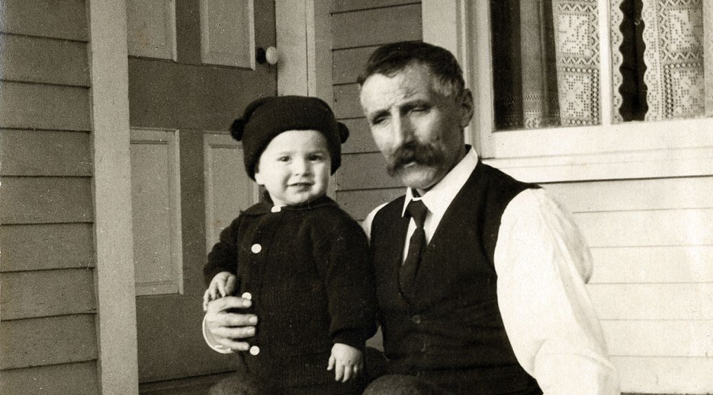 Nicholas Bausman Jr with his grandson Spud Davis
