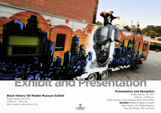Black History 101 Mobile Museum Exhibit poster