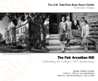The Fair Arcadian Hill exhibit poster