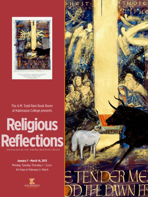 Religious Reflections exhibit poster