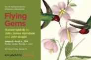 "Flying Gems: Hummingbirds by John James Audubon and John Gould poster 24""x 32"""